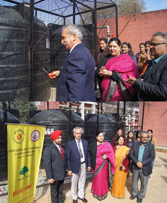 Water Boosting Arrangement inaugurated in PGGCG-11, Chandigarh